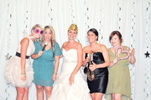 The bride and her friends