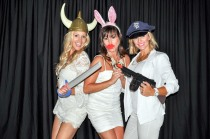 White Birthday Party Photo Booth Pictures